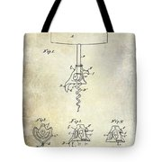 1900 Corkscrew Patent Drawing Tote Bag