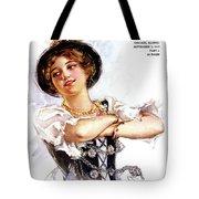 1900s 1913 Smiling German Girl Wearing Tote Bag