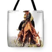 1900s Sunday Magazine Cover Lone Cowboy Tote Bag