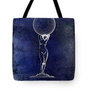 1901 Wine Glass Design Patent Blue Tote Bag