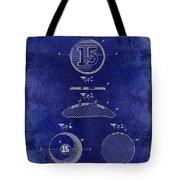 1902 Billiard Ball Patent Drawing Blue Tote Bag