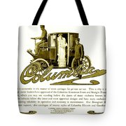 1903 - Columbia Motor Carriage Advertisement Tote Bag