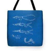 1903 Dental Pliers Patent Blueprint Tote Bag
