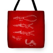 1903 Dental Pliers Patent Red Tote Bag