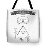 1903 Portable Drum Patent Drawing Tote Bag