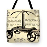 1905 - Yost Electric Manufacturing Company - Toldeo Ohio - Lawn Sprinkler Advertisement Tote Bag