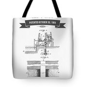 1906 Well Drilling Apparatus Patent Drawing - Retro Gray Tote Bag