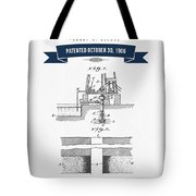 1906 Well Drilling Apparatus Patent Drawing - Retro Navy Blue Tote Bag