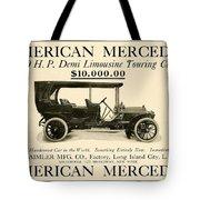 1907 - Daimler Manufacturing Company - American Mercedes Demi Limousine Automobile Advertisement Tote Bag