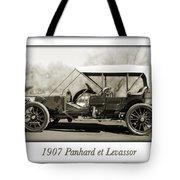 1907 Panhard Et Levassor Tote Bag