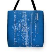 1908 Flute Patent - Blueprint Tote Bag