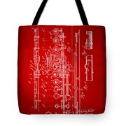 1908 Flute Patent - Red Tote Bag