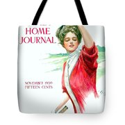 1909 - Ladies Home Journal Magazine Cover - November - Color Tote Bag