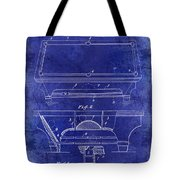 1909 Billiard Table Patent Drawing Blue Tote Bag