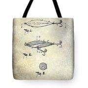 1909 Fishing Lure Patent Drawing Tote Bag