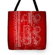 1909 Flute Patent In Red Tote Bag