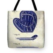 1910 Baseball Patent Drawing 2 Tone Tote Bag