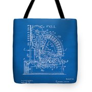 1910 Cash Register Patent Blueprint Tote Bag