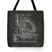1910 Cash Register Patent Gray Tote Bag