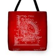 1910 Cash Register Patent Red Tote Bag