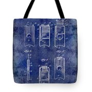1910 Cigar Cutter Patent Drawing Blue Tote Bag