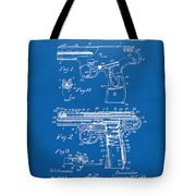1911 Automatic Firearm Patent Artwork - Blueprint Tote Bag