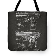 1911 Automatic Firearm Patent Artwork - Gray Tote Bag by Nikki Marie Smith