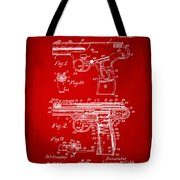 1911 Automatic Firearm Patent Artwork - Red Tote Bag