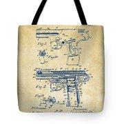 1911 Automatic Firearm Patent Artwork - Vintage Tote Bag