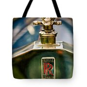 1912 Rolls-royce Silver Ghost Cann Roadster Skull Hood Ornament Tote Bag