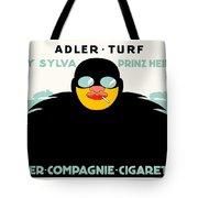 1913 - Adler Cigarette German Advertisement Poster - Color Tote Bag