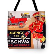 1913 - Geschwa Automobile Shock Absorber Adbertisement - Color Tote Bag