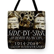 1914 - 2014 Side By Side - In Death As In Life Tote Bag