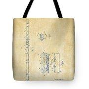1914 Flute Patent - Vintage Tote Bag