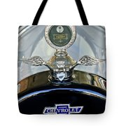 1915 Chevrolet Touring Hood Ornament Tote Bag