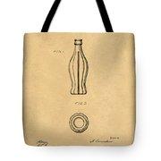 1915 Coca Cola Bottle Design Patent Art 5 Tote Bag