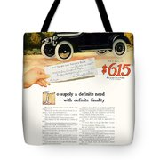 1916 - Willys Overland Roadster Automobile Advertisement - Color Tote Bag