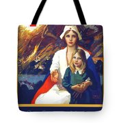 1917 - Red Cross Nursing Recruiting Poster - World War One - Color Tote Bag