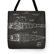 1917 Glenn Curtiss Aeroplane Patent Artwork 2 - Gray Tote Bag