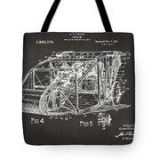 1917 Glenn Curtiss Aeroplane Patent Artwork 3 - Gray Tote Bag