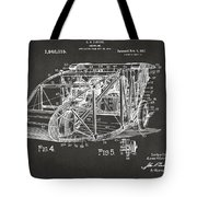 1917 Glenn Curtiss Aeroplane Patent Artwork 3 - Gray Tote Bag
