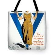 1918 - Ywca Patriotic Poster - World War One - Color Tote Bag