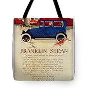 1919 - Franklin Sedan Advertisement - Color Tote Bag