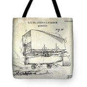 1919 Airship Patent Drawing Tote Bag
