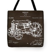 1919 Henry Ford Tractor Patent Espresso Tote Bag by Nikki Marie Smith
