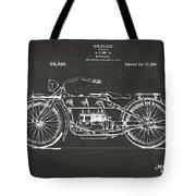 1919 Motorcycle Patent Artwork - Gray Tote Bag