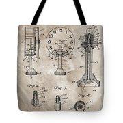 1920 Clock Patent Tote Bag