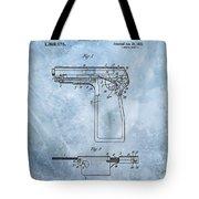 1920 Handgun Patent Tote Bag