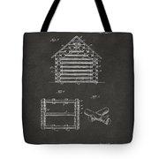 1920 Lincoln Log Cabin Patent Artwork - Gray Tote Bag