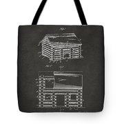 1920 Lincoln Logs Patent Artwork - Gray Tote Bag